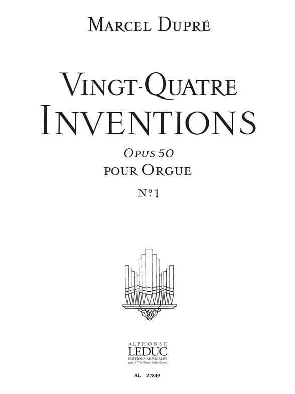 24 Inventions Opus 50 Volume 1 - DUPRÉ - Partition - laflutedepan.com