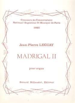 Madrigal II Jean-Pierre Leguay Partition Orgue - laflutedepan