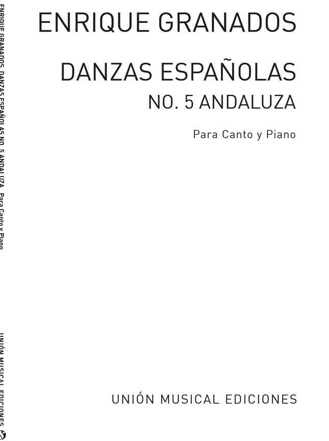 Andaluza - GRANADOS - Partition - Mélodies - laflutedepan.com