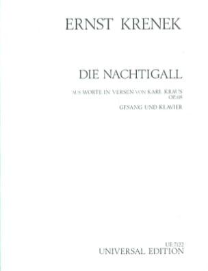 Die Nachtigall Op. 68 Ernst Krenek Partition Mélodies - laflutedepan