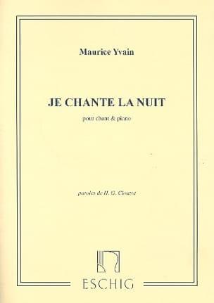 Je Chante la Nuit Maurice Yvain Partition Mélodies - laflutedepan