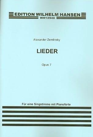 Lieder Op. 7 ZEMLINSKY Partition Mélodies - laflutedepan