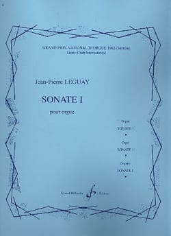 Sonate pour orgue n° 1 Jean-Pierre Leguay Partition laflutedepan