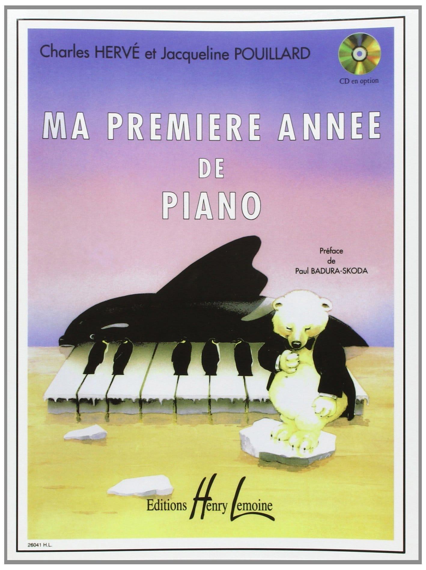 Ma 1ère Année de Piano - HERVÉ - POUILLARD - laflutedepan.com