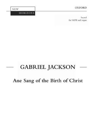 Ane Sang Af The Birth Of Christ Jackson Partition Chœur - laflutedepan