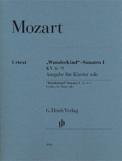 Sonates Wunderkind Volume 1- KV 6-9 MOZART Partition laflutedepan