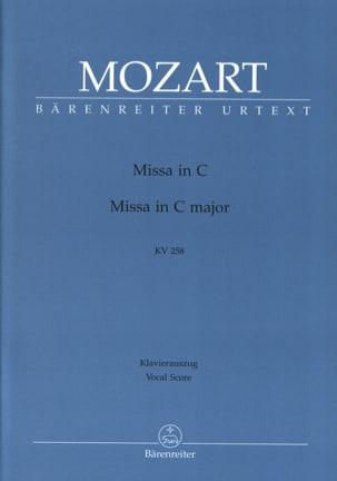 Missa Brevis In C K 258 - MOZART - Partition - laflutedepan.com