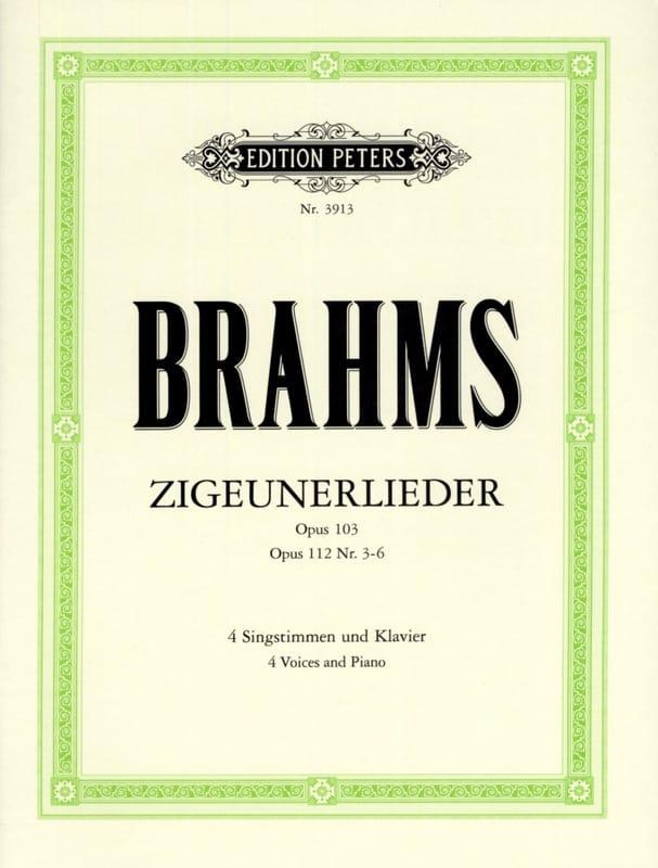 Zigeunerlieder Opus 103 et 112 3 A 6 - BRAHMS - laflutedepan.com