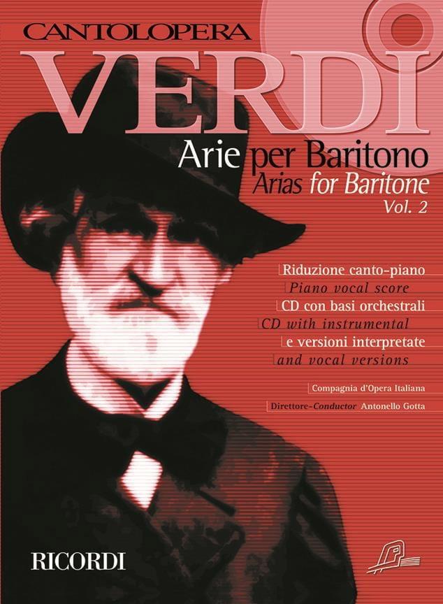 Arie per baritono. Volume 2 - VERDI - Partition - laflutedepan.com