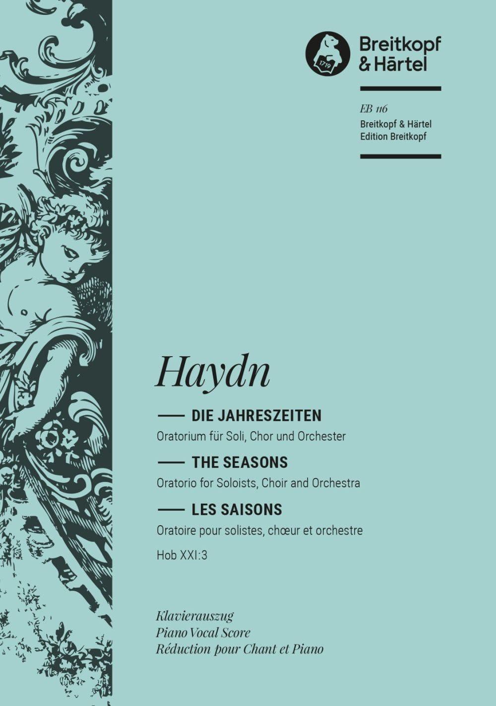 Les Saisons - HAYDN - Partition - Chœur - laflutedepan.com