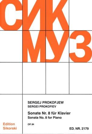 Sonate pour piano n° 8 Opus 84 PROKOFIEV Partition laflutedepan