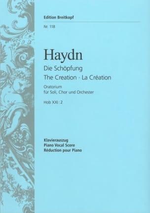 La Création HAYDN Partition Chœur - laflutedepan