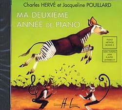 HERVÉ - POUILLARD - My 2nd year of Piano. CD - Partition - di-arezzo.co.uk