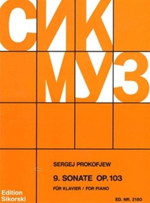 Sonate pour piano n° 9 Opus 103 PROKOFIEV Partition laflutedepan