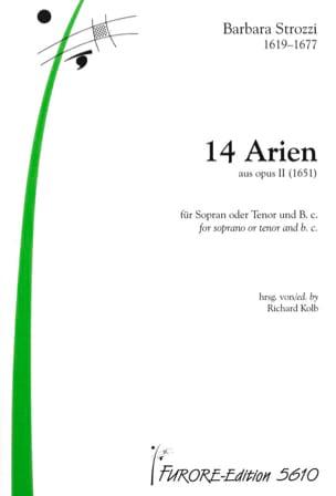 14 Arien Aus Opus 2 Barbara Strozzi Partition Mélodies - laflutedepan