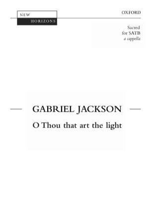 O Thou That Art The Light Jackson Partition Chœur - laflutedepan