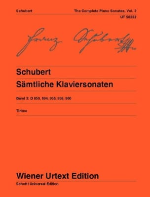 Sonates Pour Piano, Volume 3 SCHUBERT Partition Piano - laflutedepan