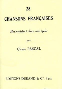 25 Chansons Françaises. 2 Voix Egales Partition Chœur - laflutedepan