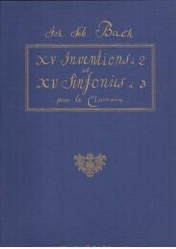 Inventions et Symphonies A 2 et 3 Voix BACH Partition laflutedepan