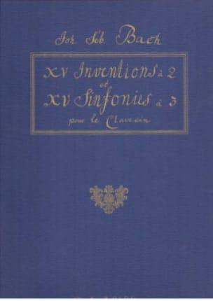 Inventions et Symphonies A 2 et 3 Voix - BACH - laflutedepan.com