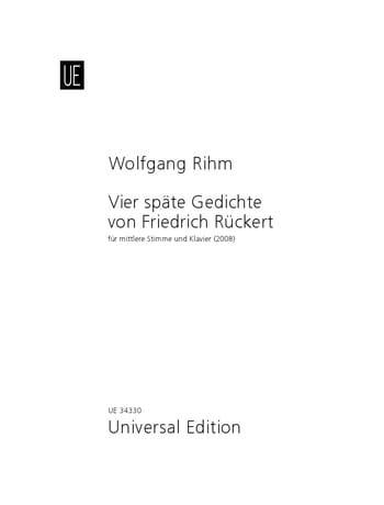 4 Späte Gedichte Von Friedrich Rückert - laflutedepan.com