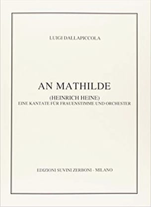 An Mathilde Luigi Dallapiccola Partition Mélodies - laflutedepan