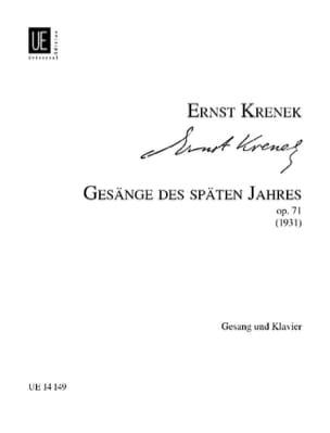 Gesänge des Späten Jahres Op. 71 Ernst Krenek Partition laflutedepan