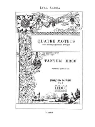 Tantum Ergo. Opus 9-3 DUPRÉ Partition Chœur - laflutedepan