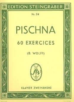 60 Exercices progressifs Johann Pischna Partition Piano - laflutedepan