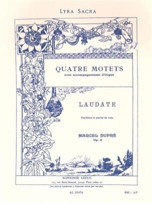 Laudate. Opus 9-4 DUPRÉ Partition Chœur - laflutedepan