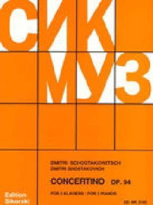 Concertino Opus 94. 2 Pianos - CHOSTAKOVITCH - laflutedepan.com