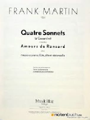 4 Sonnets A Cassandre - Frank Martin - Partition - laflutedepan.com