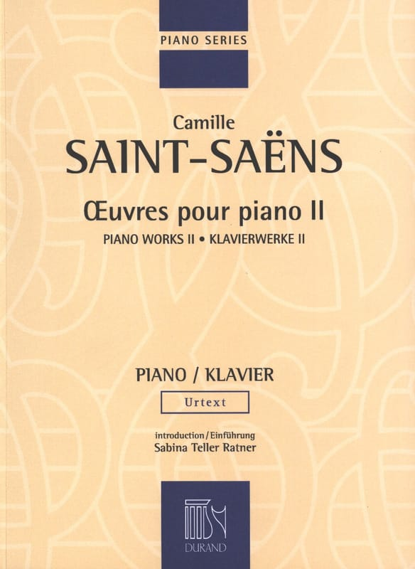 Oeuvres Pour Piano Volume 2 - SAINT-SAËNS - laflutedepan.com