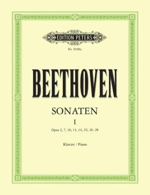 Sonates pour piano. Volume 1 BEETHOVEN Partition Piano - laflutedepan