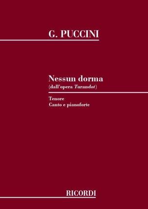 Giacomo Puccini - Nessun Dorma. Turandot - Partition - di-arezzo.co.uk