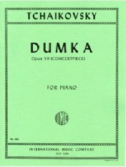Dumka Opus 59 TCHAIKOVSKY Partition Piano - laflutedepan