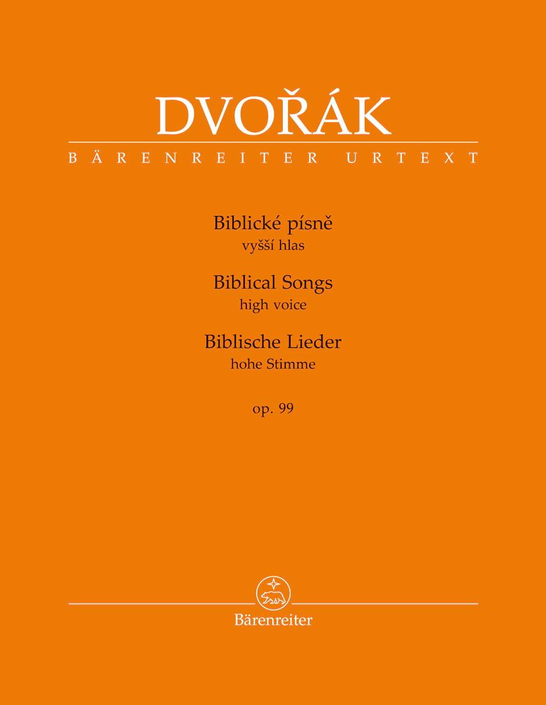 Biblische Lieder Opus 99. Voix Haute - DVORAK - laflutedepan.com