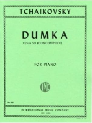 Dumka Opus 59 - TCHAIKOVSKY - Partition - Piano - laflutedepan.com