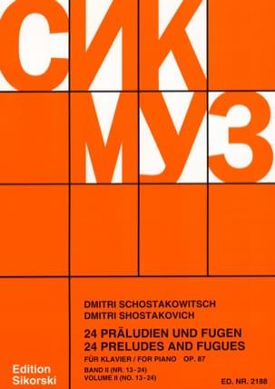 24 Préludes et Fugues Opus 87 Volume 2 CHOSTAKOVITCH laflutedepan