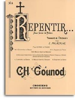 Repentir - Voix Haute GOUNOD Partition Mélodies - laflutedepan