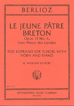 Le Jeune Pâtre Breton Opus 13-4 BERLIOZ Partition Cor - laflutedepan