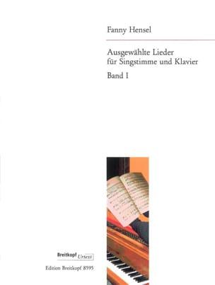 Ausgewählte Lieder, Band 1 Fanny Hensel-Mendelssohn laflutedepan
