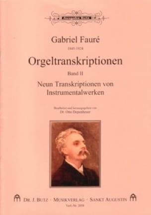 Transcriptions pour orgue Volume 2 - FAURÉ - laflutedepan.com