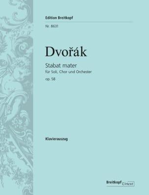 DVORAK - Stabat Mater Opus 58 - Partition - di-arezzo.co.uk