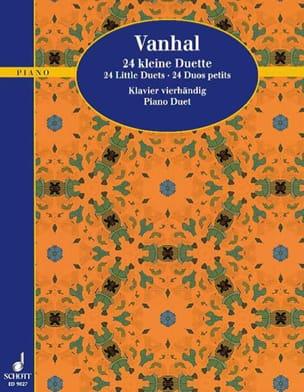 24 Kleine Duette Johann Baptist Vanhal Partition Piano - laflutedepan