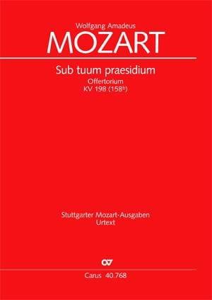 Sub Tuum Praesidium K 198 - MOZART - Partition - laflutedepan.com