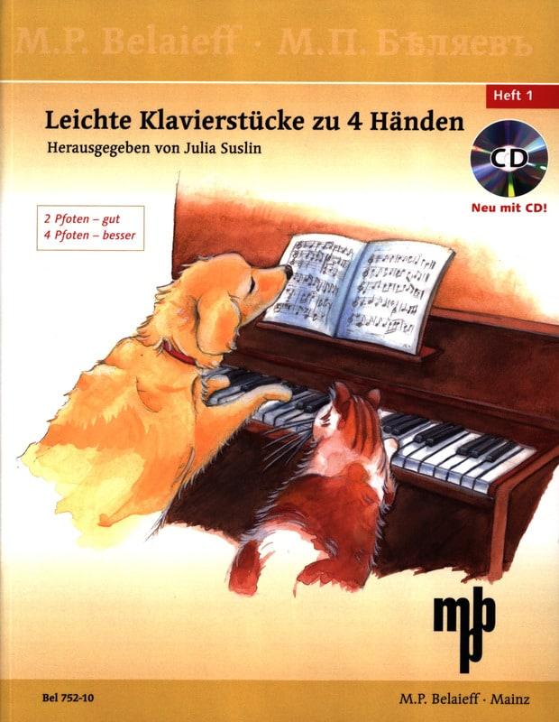 Leichte Klavierstücke Zu 4 Händen Volume 1 + CD - laflutedepan.com