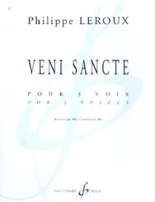 Veni Sancte - Philippe Leroux - Partition - laflutedepan.com