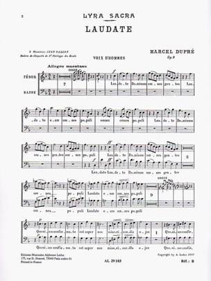 Laudate Opus 9-4. Voix Hommes DUPRÉ Partition Chœur - laflutedepan