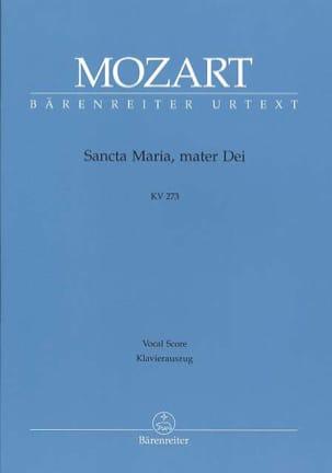 Sancta Maria, Mater Dei. K 273 MOZART Partition Chœur - laflutedepan